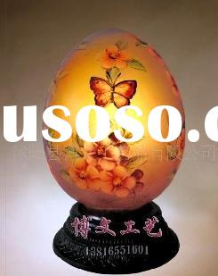 hand-painted lamp/desk lamp/table lamp/art lamp/egg lamp U-04