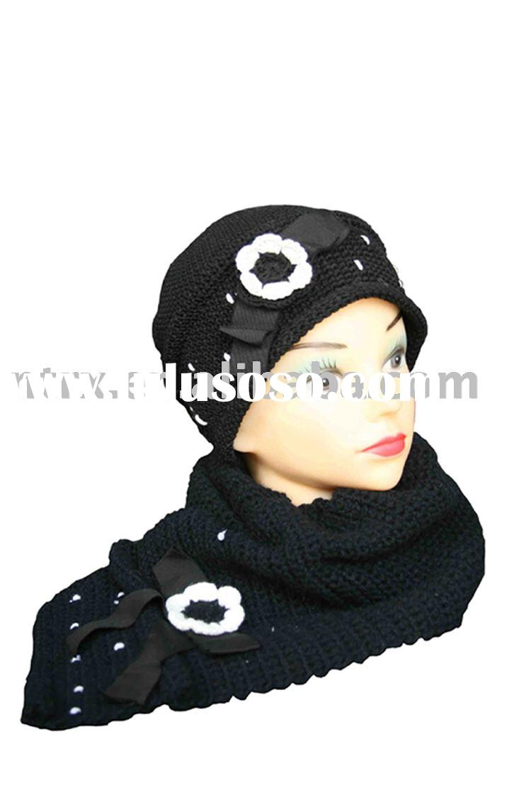 headwear,knit hat,scarves,hat and scarf set RX26158B