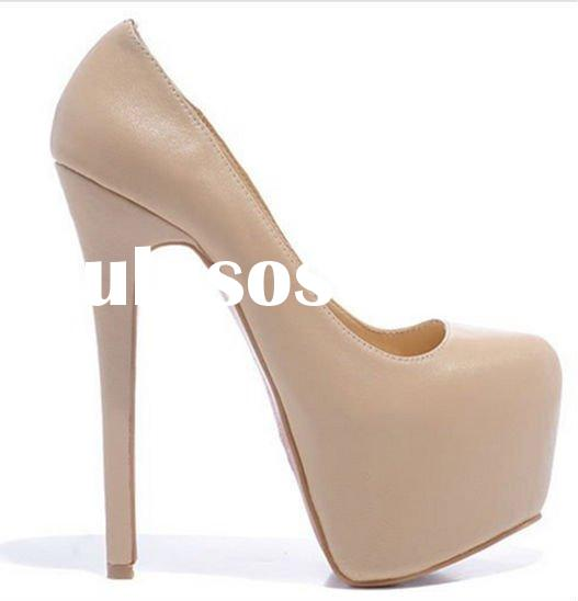 high fashion platform women high heel wedding shoes
