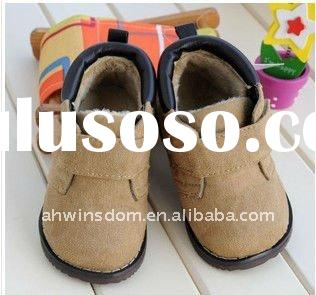 hot sale baby boy khaki winter shoes for 2012