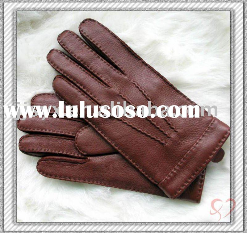 imitating deerskin men's leather gloves