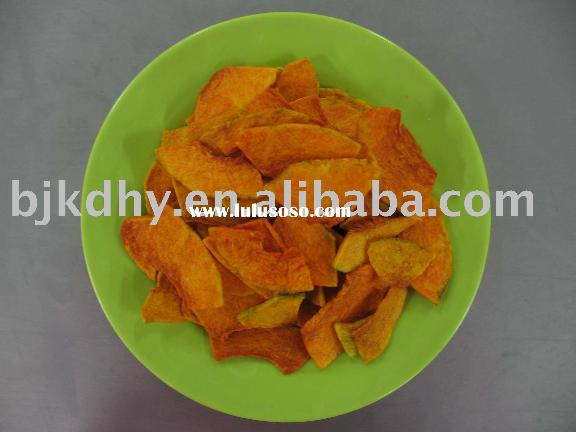 low temperature vacuum fried pumpkin chip