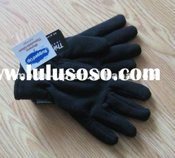 mens polar fleece gloves with thinsulate lining