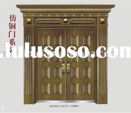 metal entrance door,exterior steel door,steel entry door,villa copper door