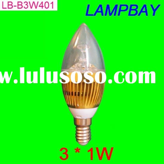 nice shape 2011 new type LED candle bulb with e14 screw base two years wrranty CE RoHS certificate