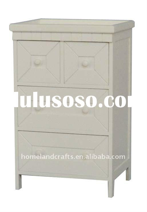 paulownia&MDF storage display cabinet with 2 big drawers and 2 small drawers