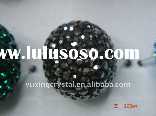 pave crystal beads,crystal spacer beads,diamond pave loose beads