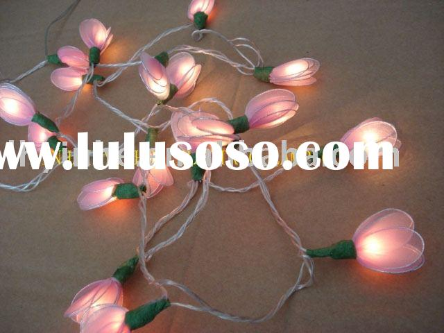 pink gardenia rice bulb string light/CHRISTMAS LED BLOSSOM TREE LIGHTS ,HOME DECOR, COMMERCIAL DECOR
