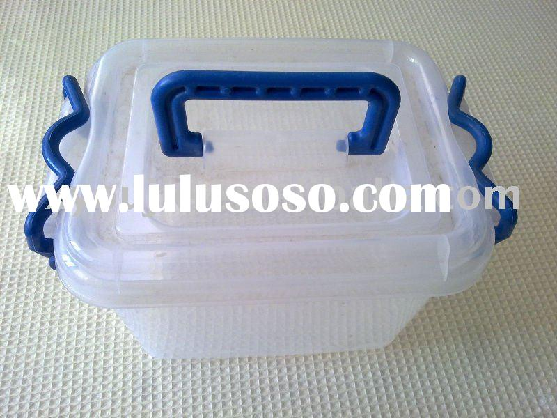 plastic container box with handle
