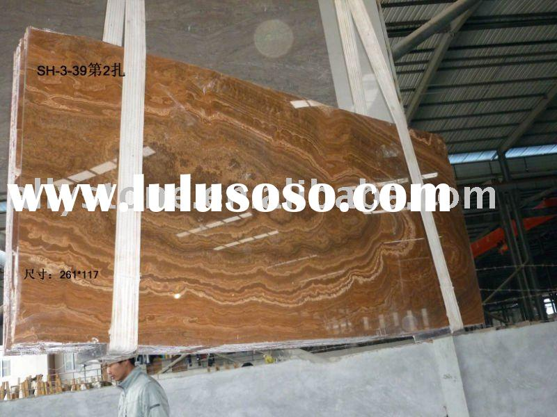 polished thin granite slabs-yellow wooden vein marble slabs