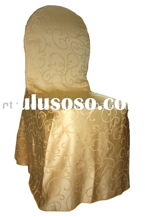 polyester jacquard Chair cover polyester damask chair cover
