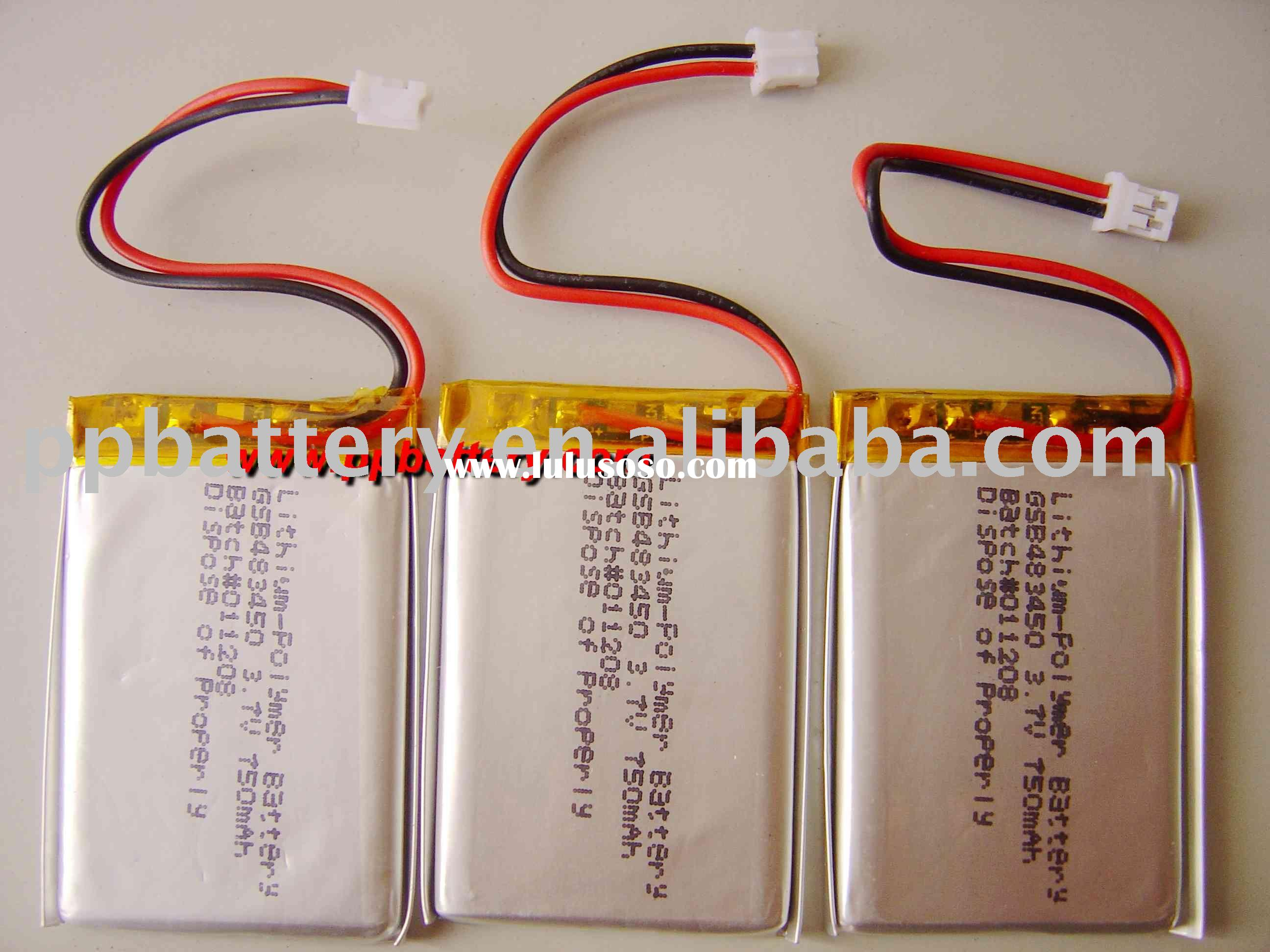 rechargeable lithium polymer battery 483450 750mAh 3.7V
