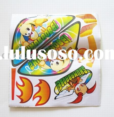 self-adhesive custom vinyl cartoon cell phone stickers