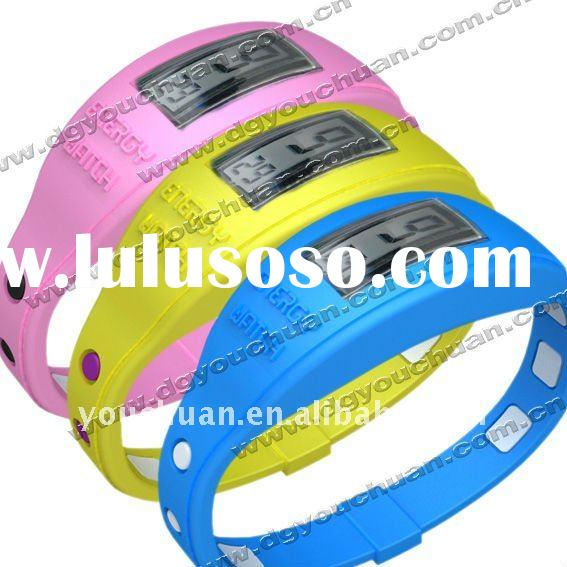 silicone bracelet ion sport wrist watch for Christmas gift