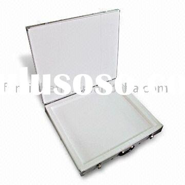 silver aluminum tool case with wheels RZ-GJX-26