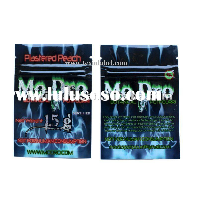 small herbs zipper bags/aluminum foil vacuum-sealed bag/hologram zipper lock bag