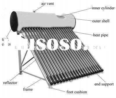 solar thermal vacuum tube solar water heating system