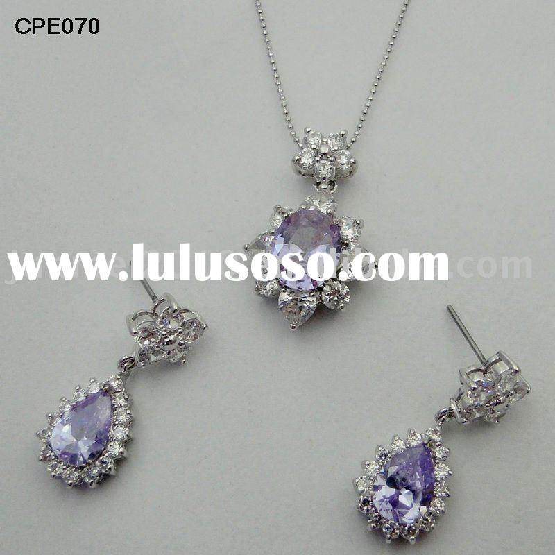 special design fashion drop cubic zirconia jewelry sets
