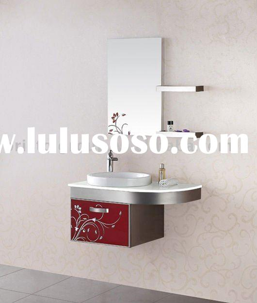 stainless steel 304# bathroom cabinet with mirror