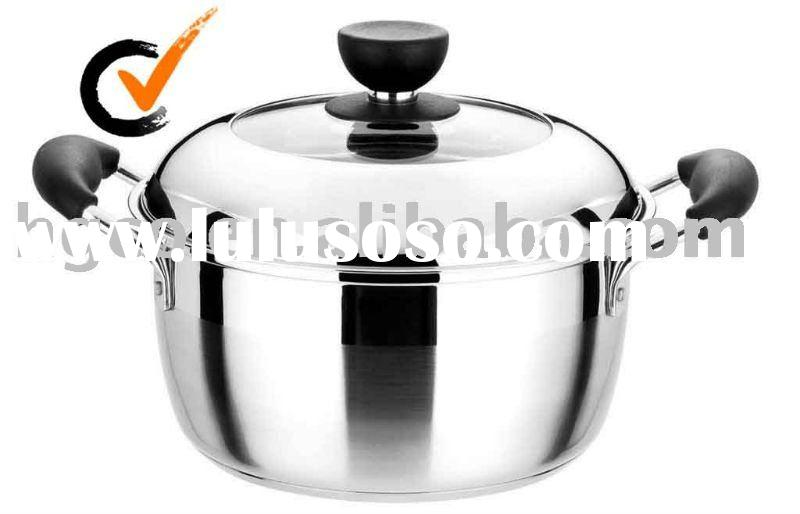 stainless steel America-style soup pot/cookware