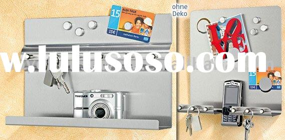 stainless steel magneti board,Magnetic memo board with Key rack,Message Board,drawing board,Wooden C