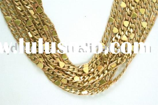 summer hot jewelry components gold plated copper chain
