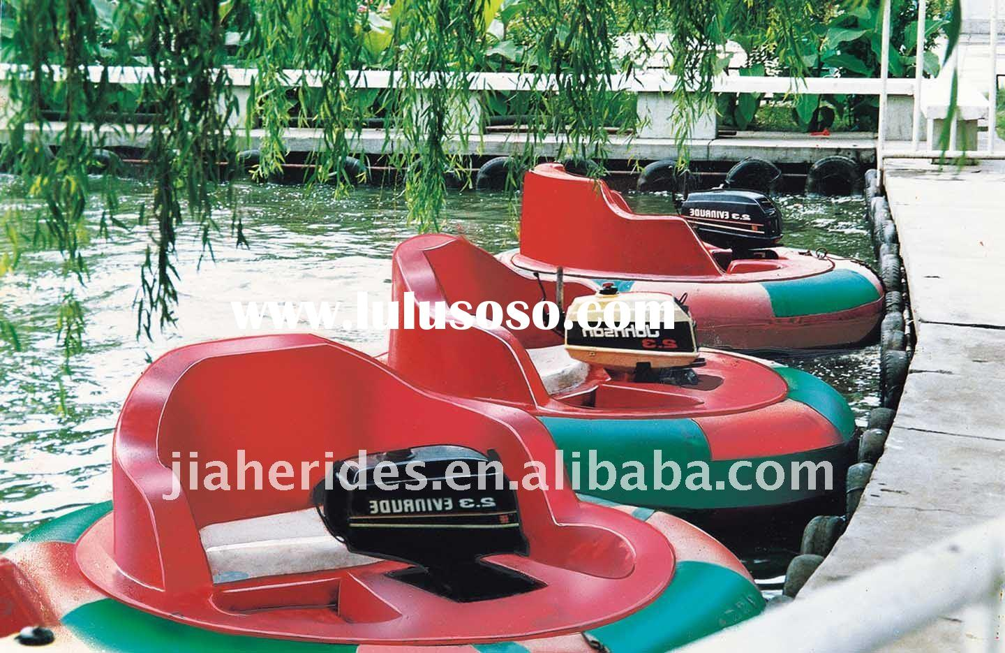 thrilling amusement park equipment bumper boat for sale