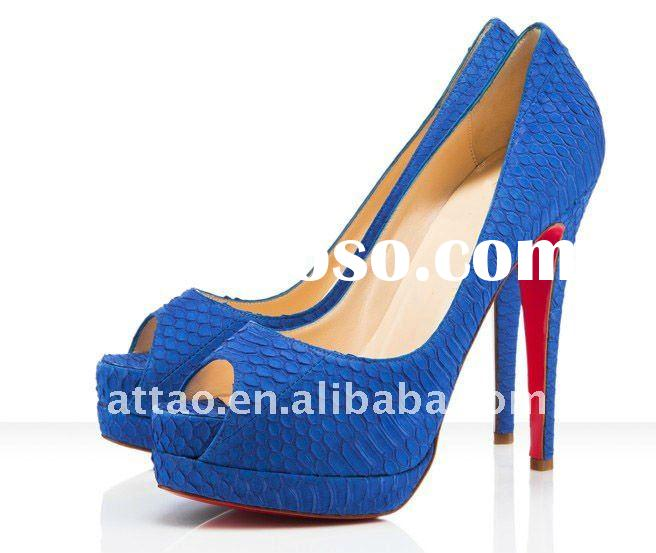 toe open shoes /women blue shoes toe open +large size