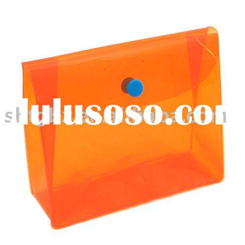 transparent plastic bags with button, clear pvc bag