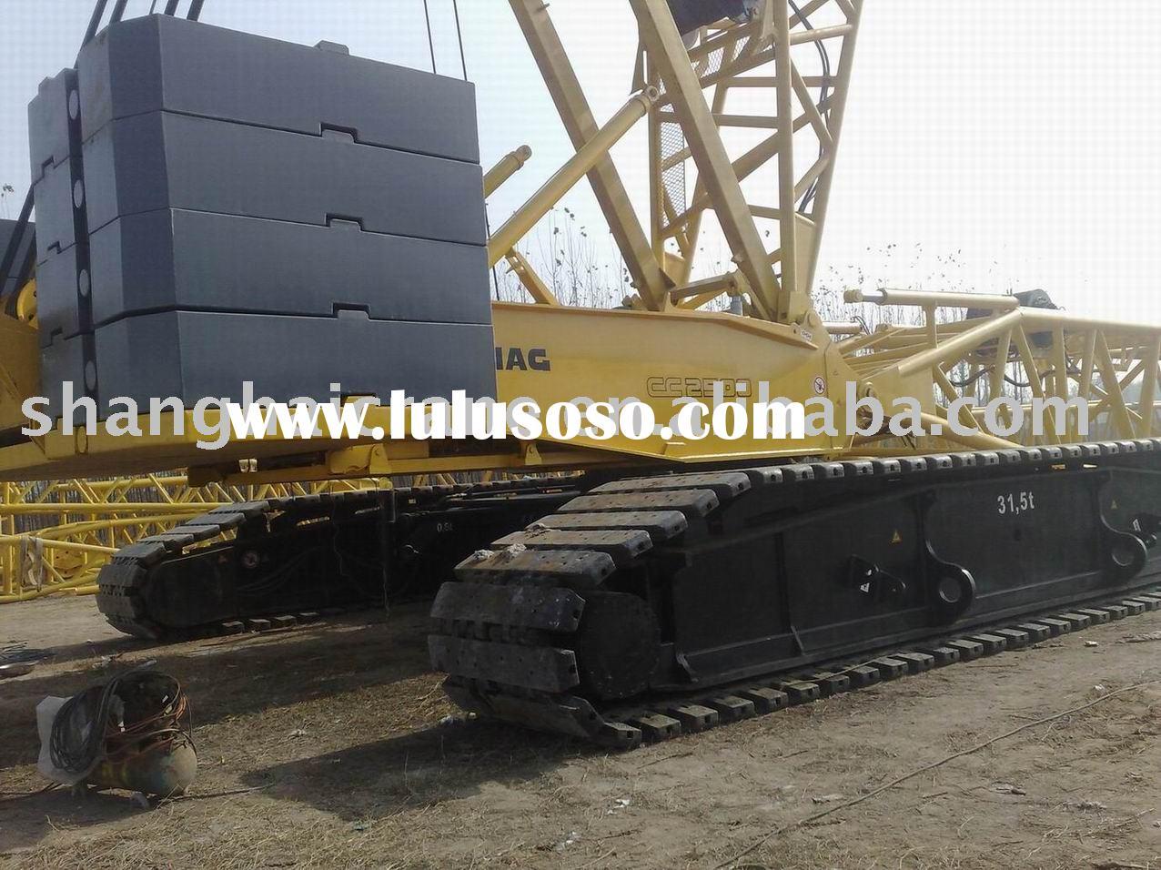 used crawler crane for sale DEMAG 450t in good working condition ( hydraulic crawler crane , used DE
