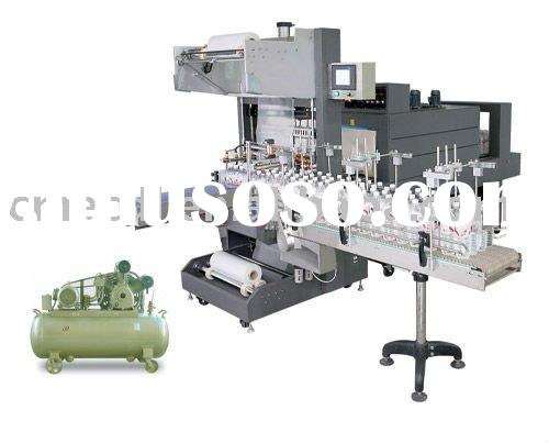 water fruit juice milk flesh Automatic sleeve wrapper and PE thermal shrink packaging machine