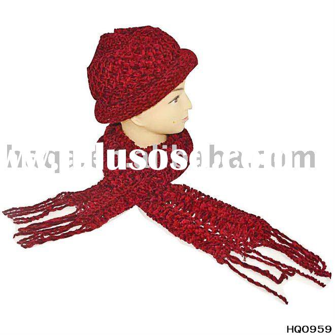 women winter hat and scarf set