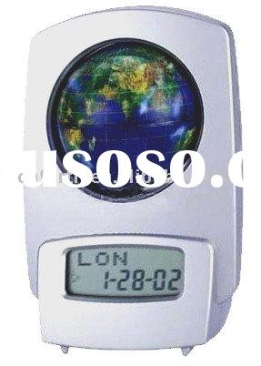 world time piece,novelty desk clock,LCD calendar desk clock,travel clock,promotion LCD clock
