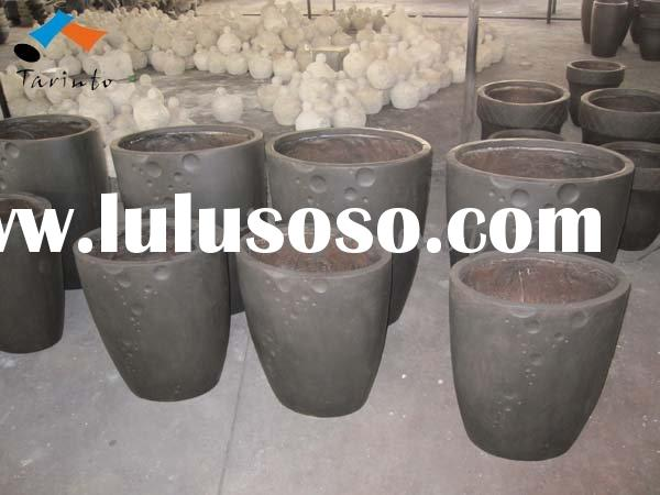 001 Flower Pots -- cement pots (oval )