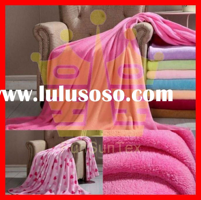 100% polyester coral fleece blanket