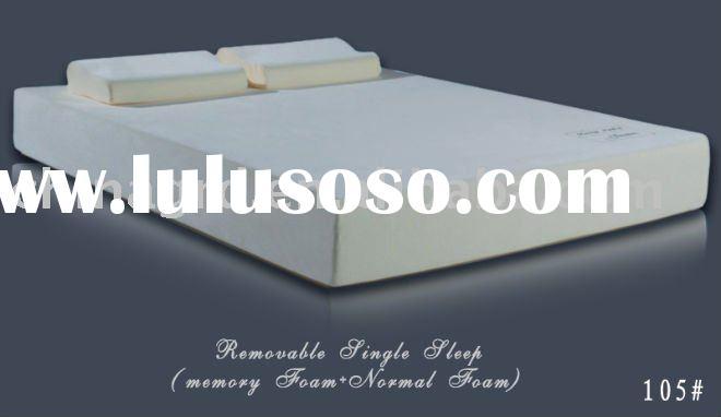 105# queen size memory foam rolled up mattress
