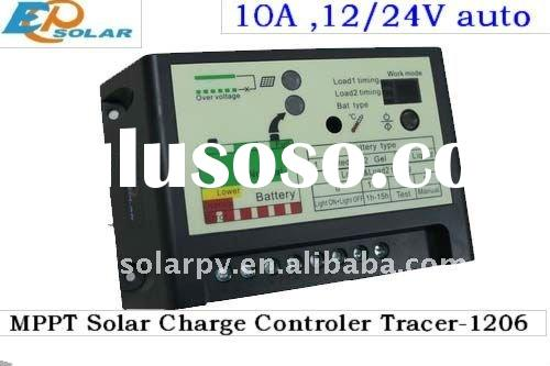 10A MPPT solar light controller with dual load,timer, day night sensor, Tracer-1206