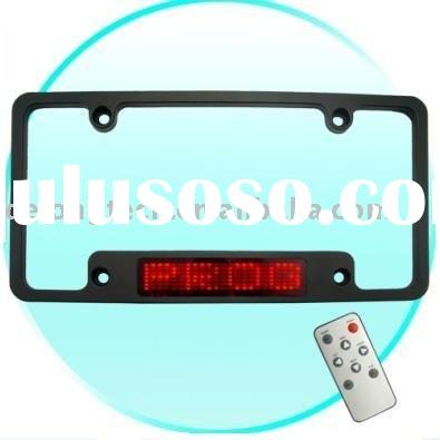 12V 7*23pixel red USA led license frame for car with remote control