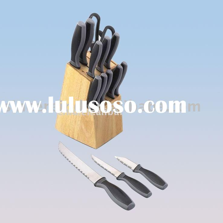 15pcs kitchen knife set with wood block