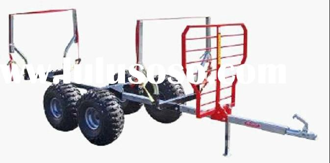1T ATV Timber trailer or log transport with crane