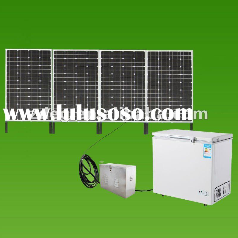 200L solar DC freezer, 100% solar fridge with one machine