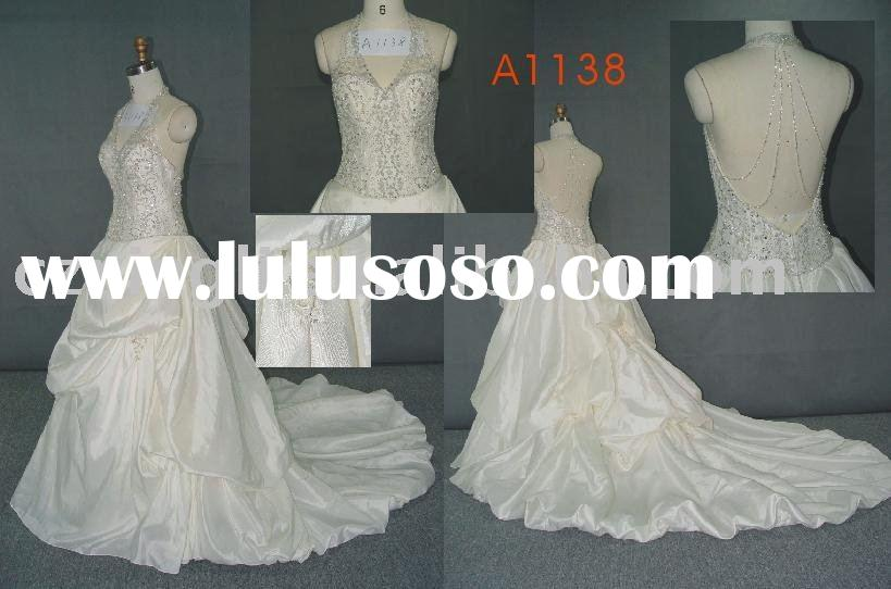 2010 Nice designed Strap Ball Gown Chapel Train Satin and Lace with Ruche and Beading lovely wedding