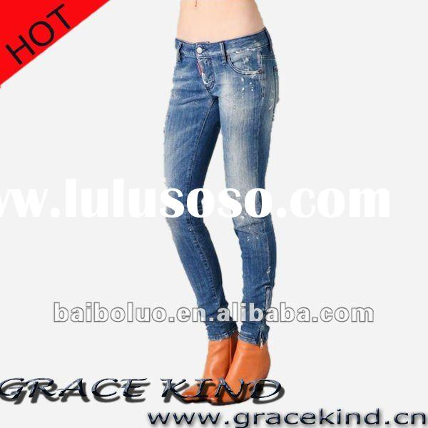 2011 Latest Design Fashion Women Jeans Trousers,Ladies Skinny Jeans(GKMJ02155)