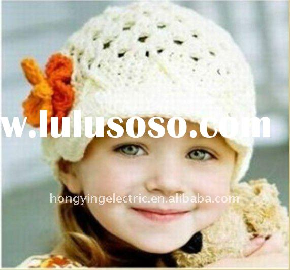 2011 baby crochet knitting flower beanie beret hat