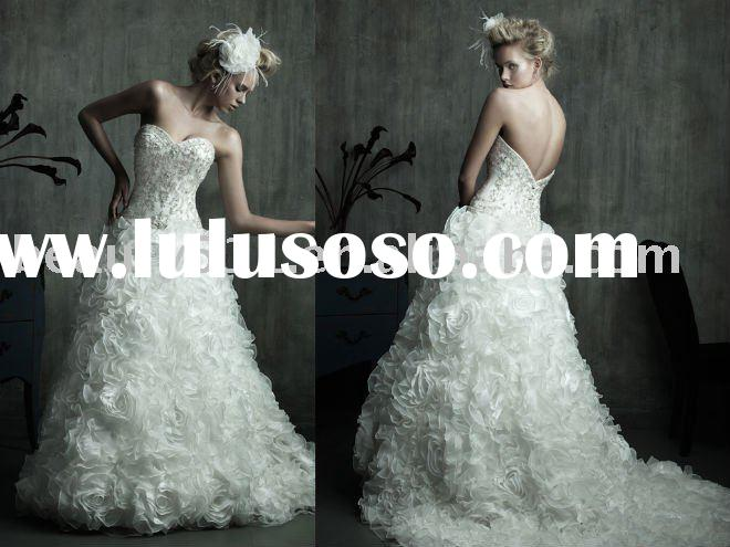 2011 latest romantic lovely ivory wedding dresses beach casual dresses prom gownsYP0089