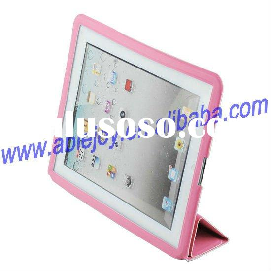 2011 new stylish PU leather smart case for ipad 2(Full covers)