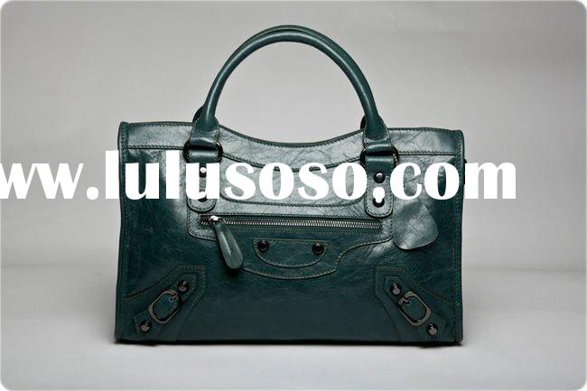 2012 Fashion Brand Lady Leather Motorcycle Bag,Tote Bag