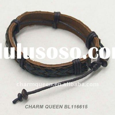 2012 Fashion leather wrap bracelet leather