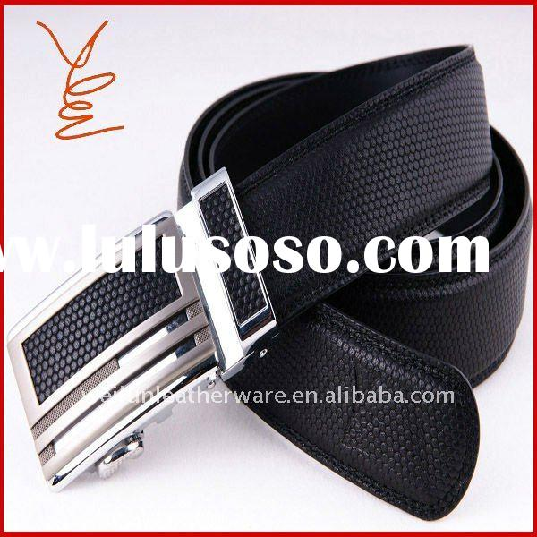 2012 automatic lock buckle genuine leather belt