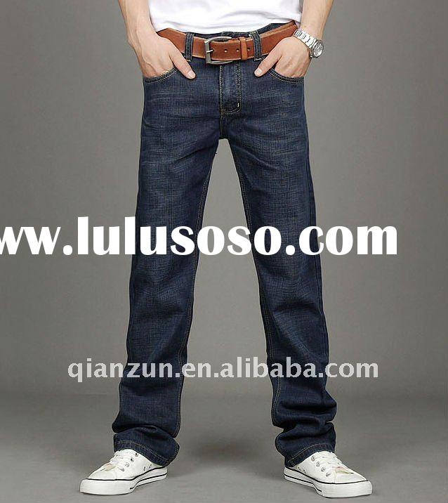 2012 fashion men's wahsed cotton jeans trousers